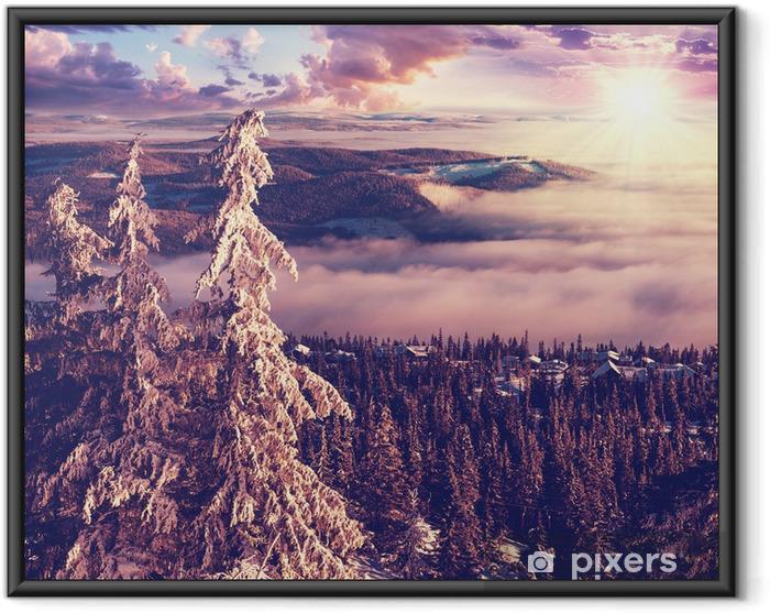 Poster en cadre Hiver en Norvège -