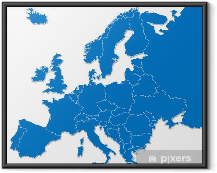 Plakat w ramie Europa mapa - Tematy