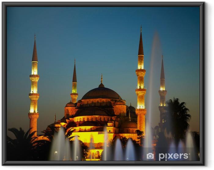 Ingelijste Poster Sultan Ahmet Camii (Blauwe Moskee). Istanbul, Turkije - Midden Oosten