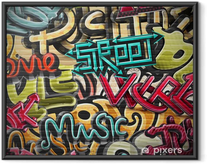 Plakat w ramie Graffiti w tle -