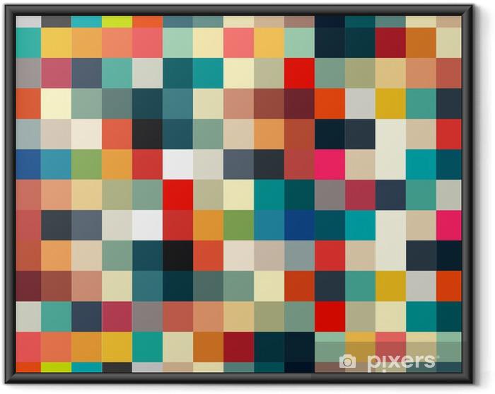 Ingelijste Poster Abstracte geometrische retro patroon naadloos voor uw ontwerp - Stijlen