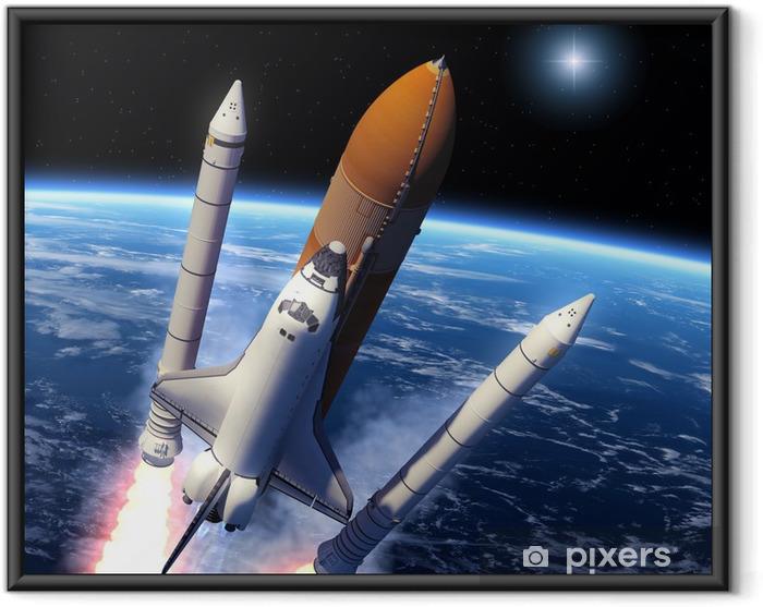 Ingelijste Poster Space Shuttle Solid Rocket Boosters Scheiding - Thema's