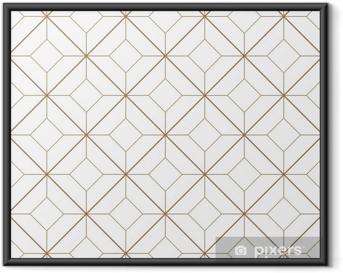 Ingelijste Poster Geometrisch patroon - Achtergrond