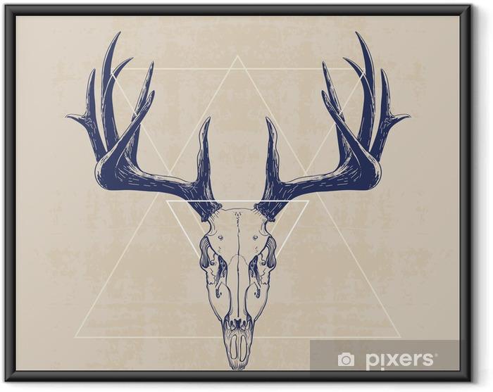 Ingelijste Poster deer skull - Zoogdieren