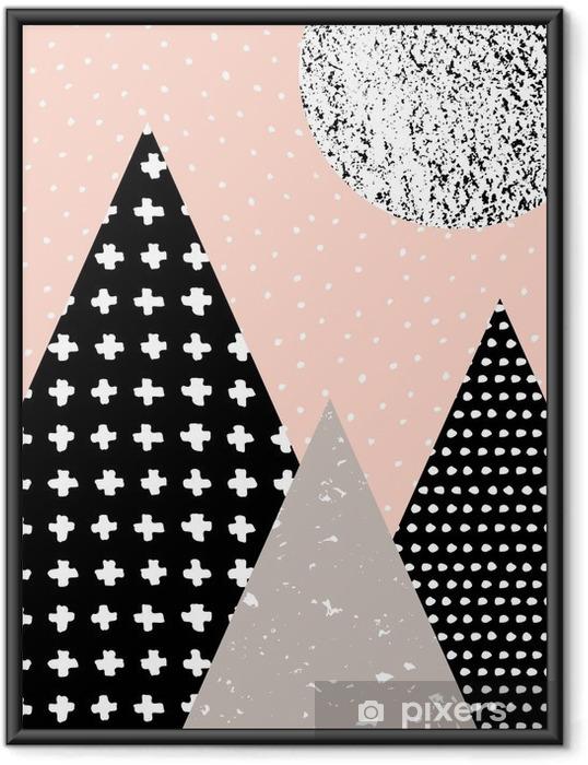 Çerçeveli Poster Özet Geometrik Manzara - Grafik kaynakları