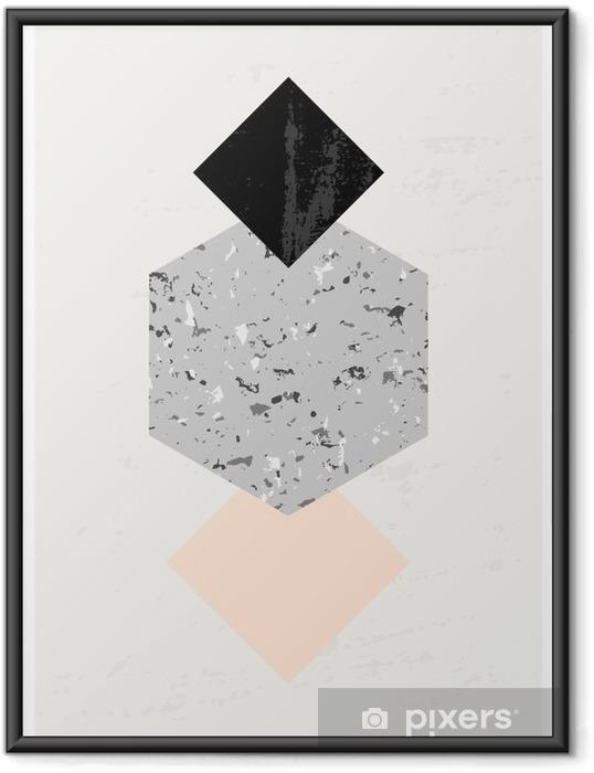 Plakát v rámu Abstraktní geometrické kompozice - Grafika