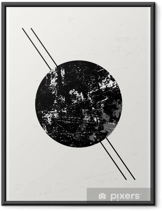 Póster Enmarcado Composición geométrica abstracta - Recursos gráficos