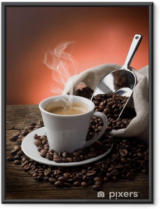 Ingelijste Poster Hete koffie - caffe Fumante - Koffie