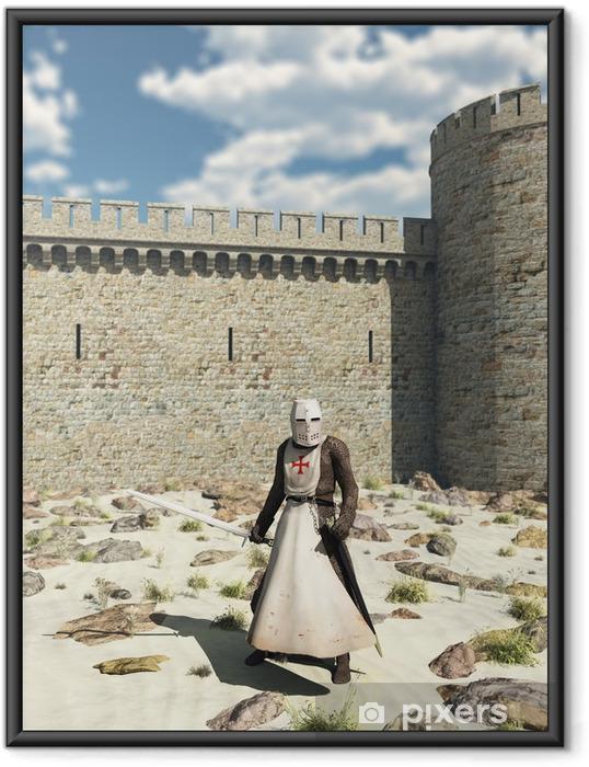 Poster i Ram Templar riddare utanför väggarna i Antioch - Riddare