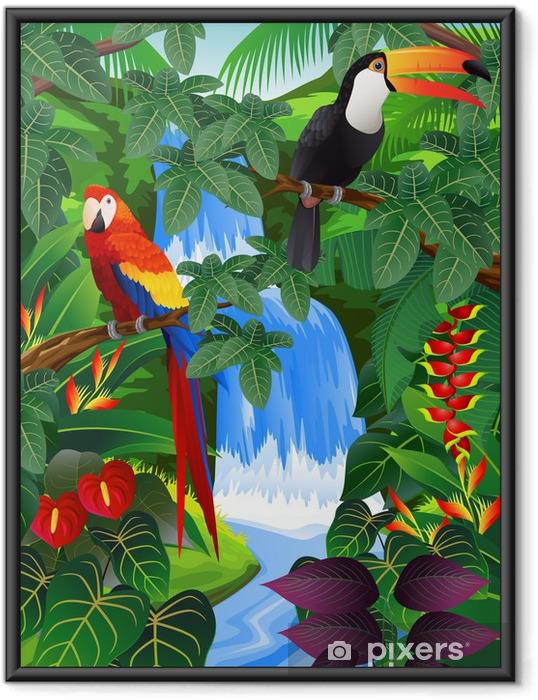 Poster in Cornice Beauiful sfondo tropicale - Temi