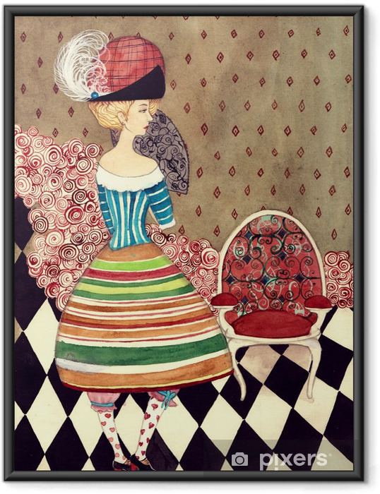 Poster in Cornice Fairy lady - Moda
