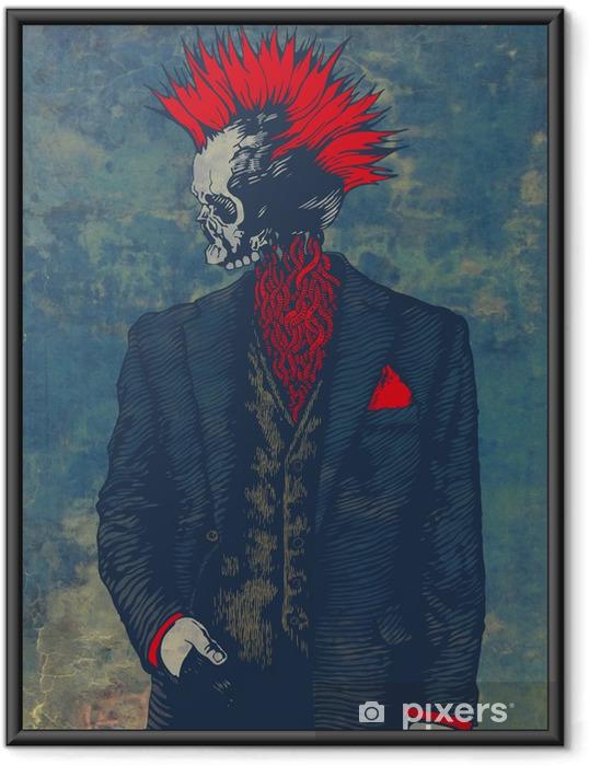 Punk skelet Indrammet plakat - Andre Følelser