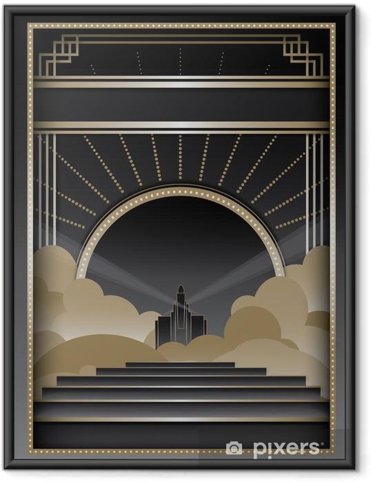 Poster i Ram Art Deco Bakgrund och Frame - Mode
