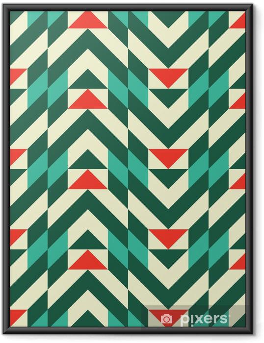 Çerçeveli Poster Soyut geometrik desen - Moda