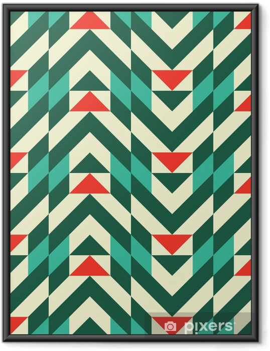 Abstrakt geometrisk mønster Indrammet plakat - Mode