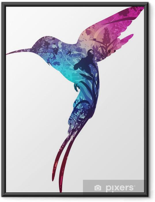 Gerahmtes Poster Humming Bird .. - Vögel