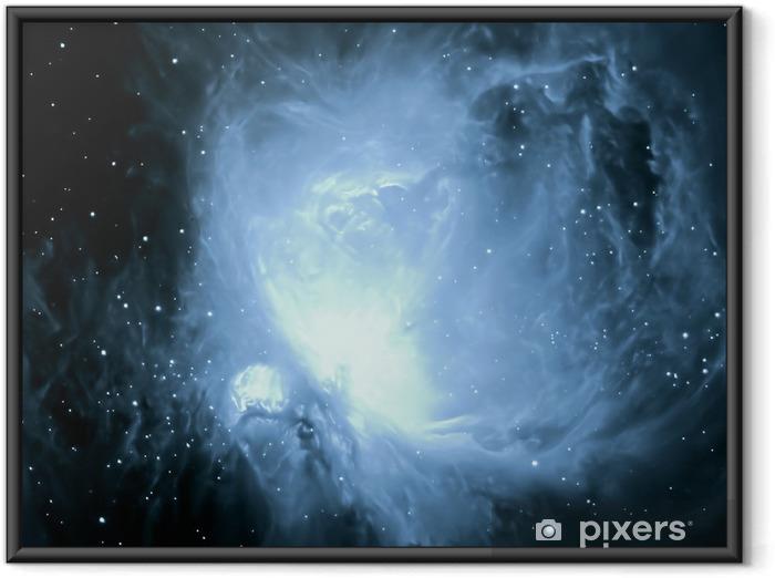 M42 orion nebula Indrammet plakat -