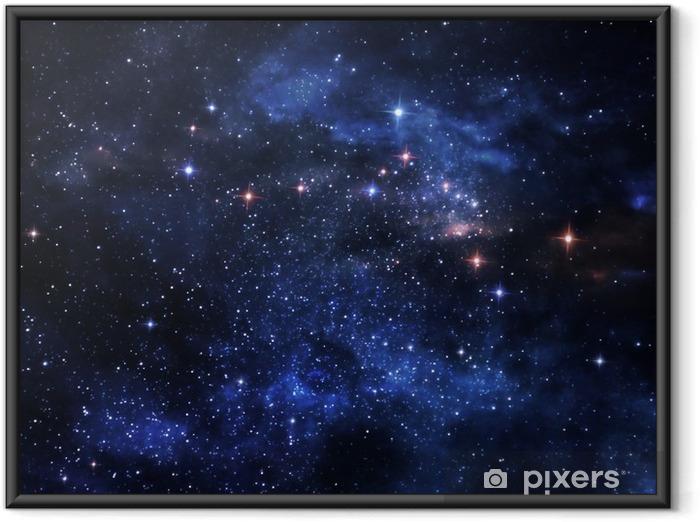 Deep Space Nebulae Indrammet plakat -