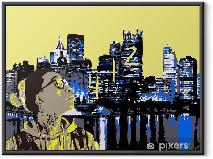 Plakat w ramie Wiz Khalifa w Pittsburgh 412 - iStaging