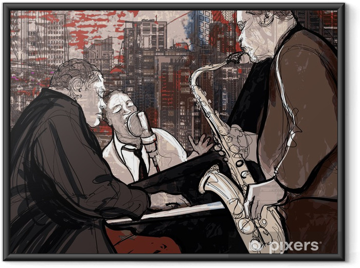 Póster Enmarcado Jazz band - Jazz