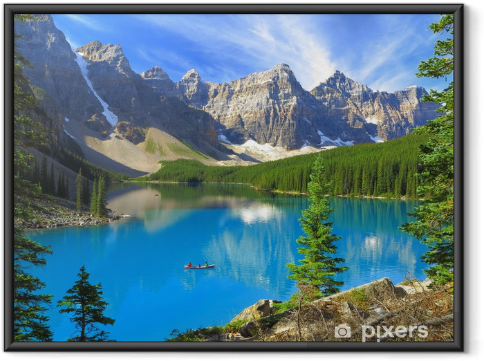 Poster en cadre Teintes vives du lac Moraine dans le parc national Banff, Canada - Montagne