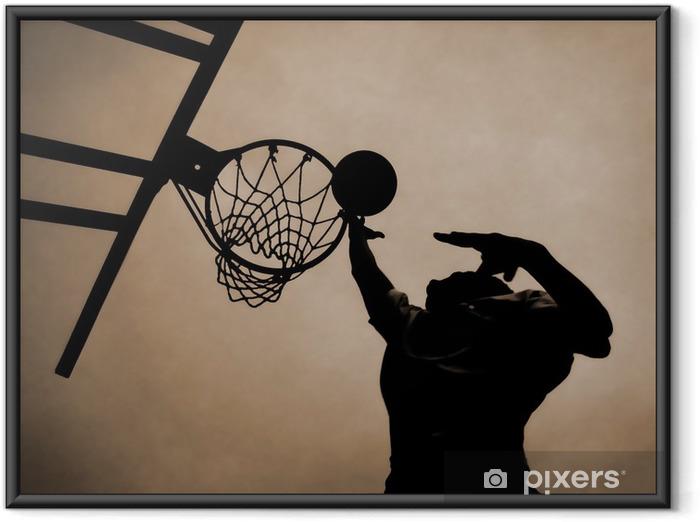 Plakat w ramie Wynik - Koszykówka