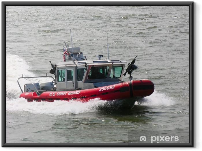 Plakat w ramie US Coast łódź patrol Straży - Zbrodnie i przemoc