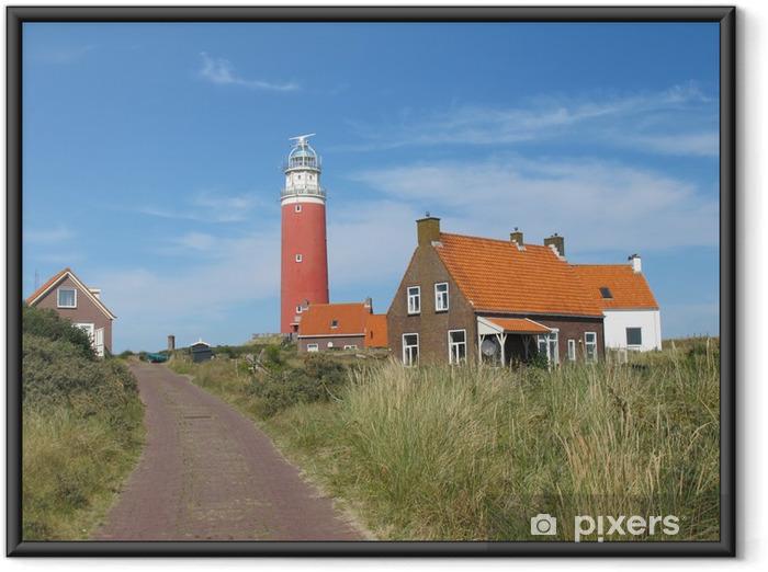 Ingelijste Poster Vuurtoren van Texel (Nederland) - Europa