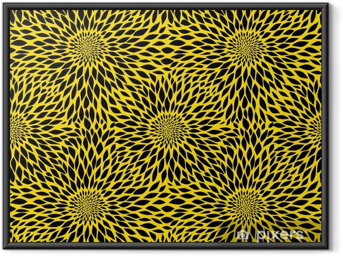 Plakát v rámu Sunflower bezešvé vzor - Struktury