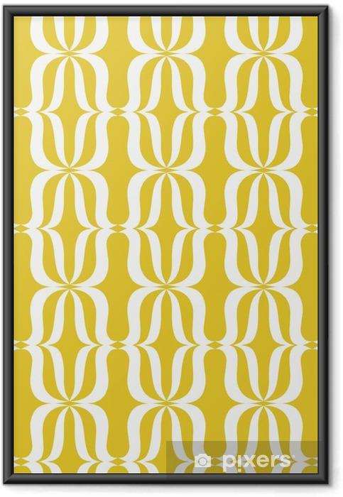 Sømløs vintage mønster Indrammet plakat - Grafiske Ressourcer