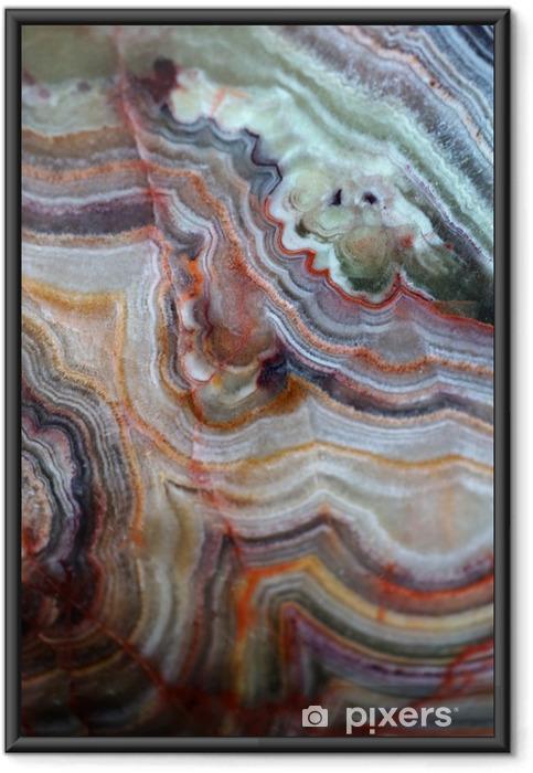 Ingelijste Poster Textuur van edelsteen onyx - Grafische Bronnen