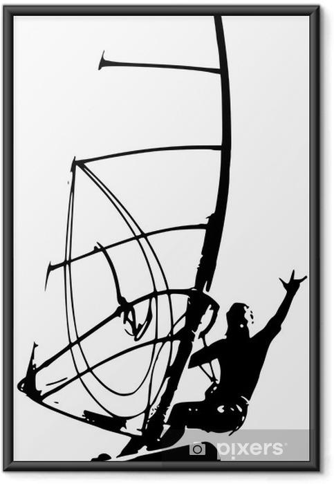 Poster en cadre Winsurf - Sports aquatiques