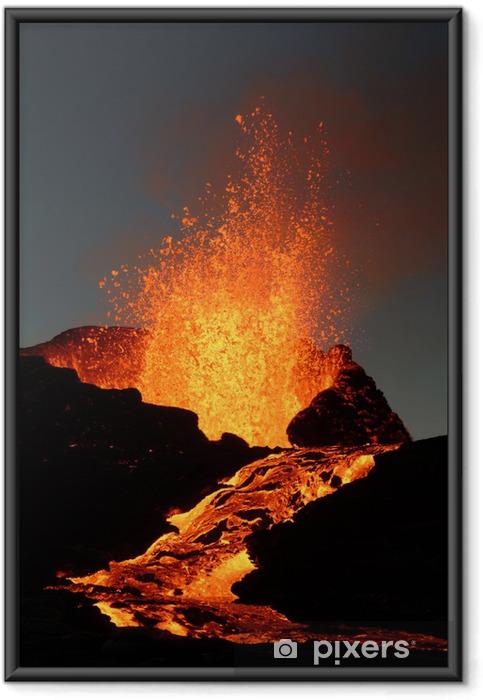 Plakat w ramie Wulkan 6 - Klęski żywiołowe