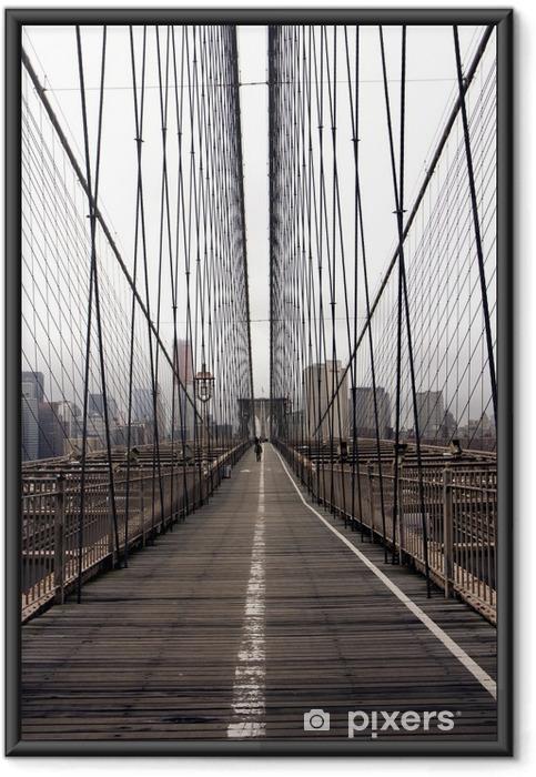 Poster i Ram Brooklyn bridge -