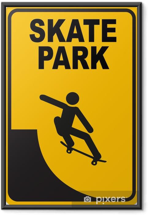 Plakat w ramie Skate park - Sporty indywidualne