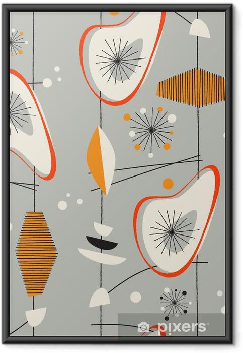 Gerahmtes Poster Seamless vintage pattern vector - Geschäfte