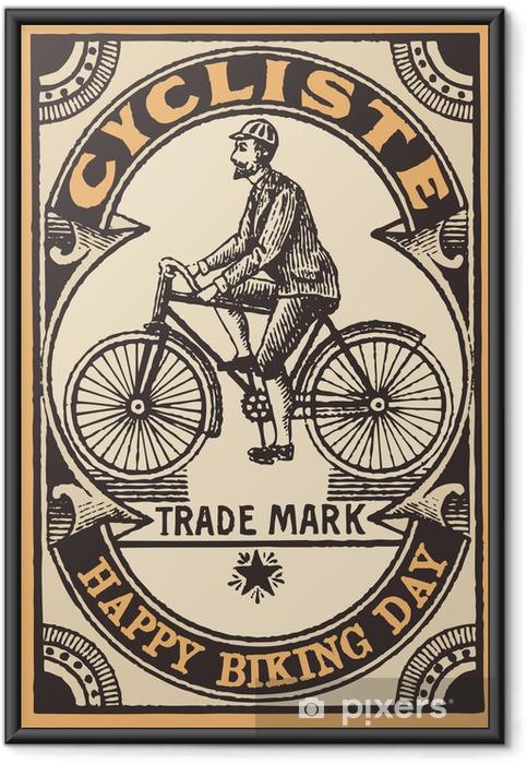 Poster i Ram Le Cycliste - På vägen