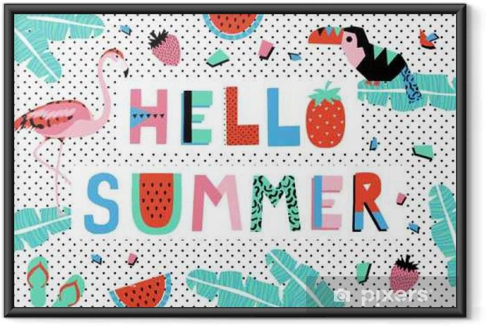 Poster en cadre Bonjour affiche d'été - Ressources graphiques