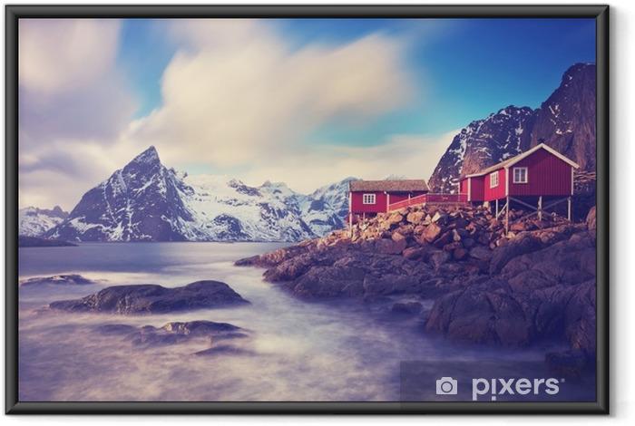 Plakát v rámu Lofoten im zimní - Krajiny