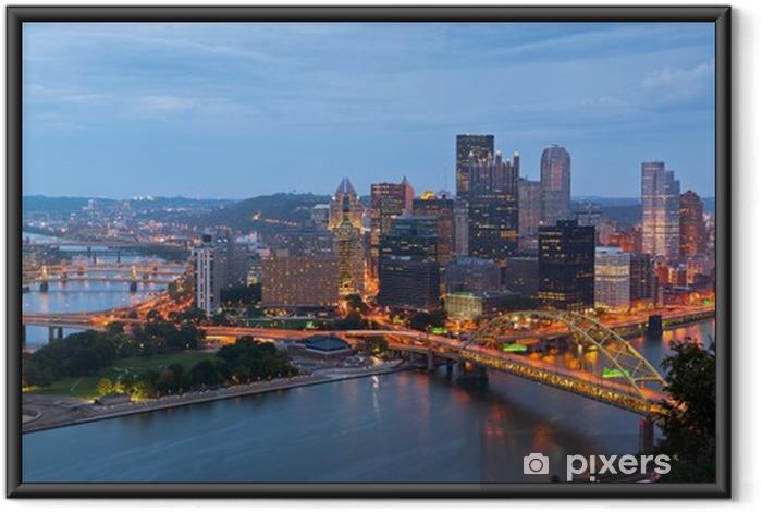 Plakat w ramie Pittsburgh skyline panorama. - Ameryka