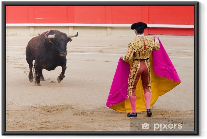 Plakat w ramie Walki byków w Barcelonie - Rozrywka