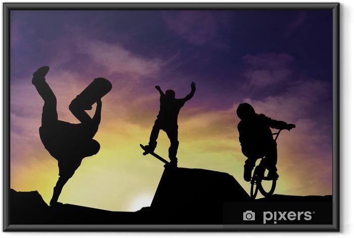Póster Enmarcado Deportes urbains - Ciclismo