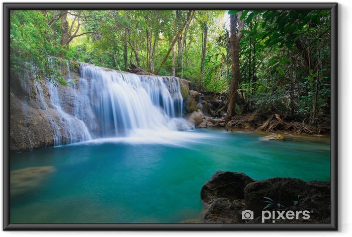 Poster en cadre Cascade dans la forêt, Kanchanaburi, Thaïlande - Thèmes