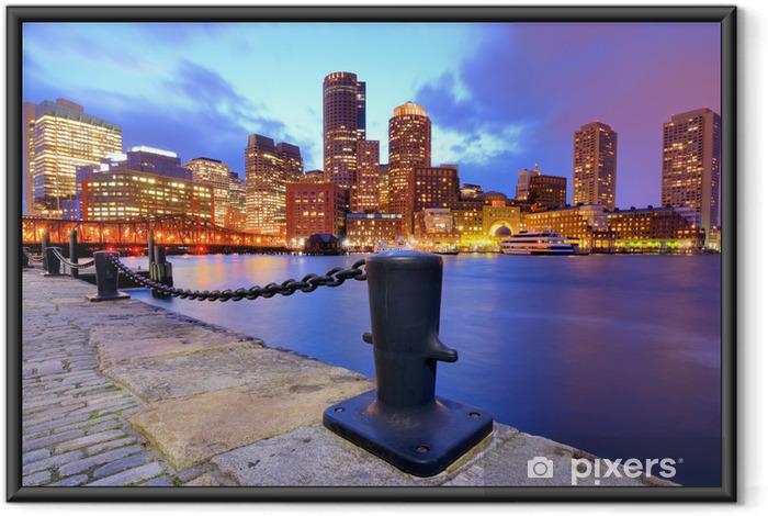 Poster en cadre Boston Harbor Skyline - Amérique