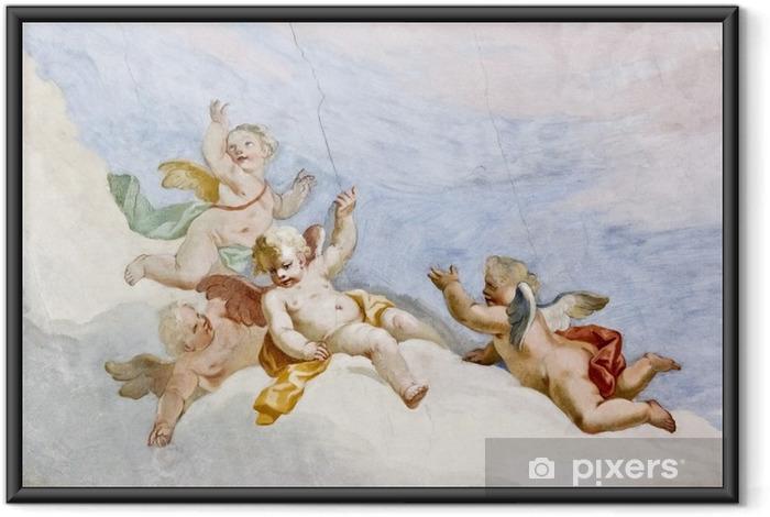 Poster i Ram Fresco Wieskirche - Teman