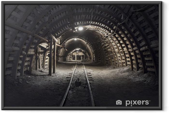 Ingelijste Poster Ondergrondse tunnel in de kolenmijn - Thema's