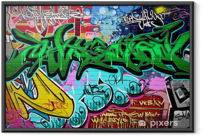 Plakat w ramie Wektor tła sztuki grafitti. mur miejski - Tematy
