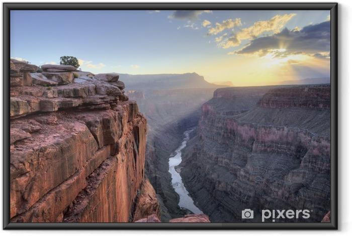 Poster i Ram Grand Canyon Toroweap Point Sunrise - Natur och vildmark