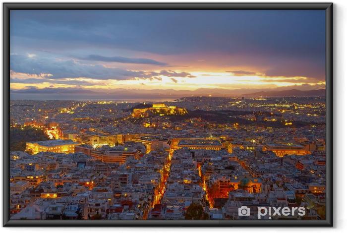Poster en cadre Athènes, Grèce. Après le coucher du soleil. - Villes européennes