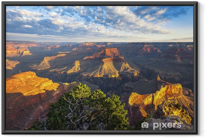 Poster i Ram Vy över morgonljus på Grand Canyon - Amerika